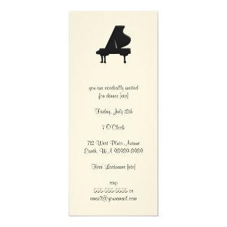Piano 10 Cm X 24 Cm Invitation Card