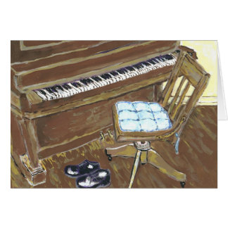 Piano and Chair Card