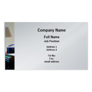 Piano and Guitar - Platinum Finish Business Card