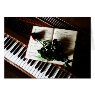 Piano and Rose Wedding Thank You Cards
