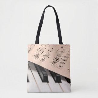 Piano and Sheet Music/Customizable Photo Template Tote Bag