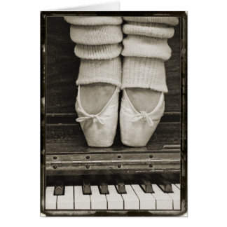 Piano Ballet Duet card