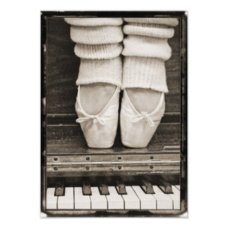 Piano Ballet Duet medium sized Photo Print