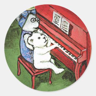 Piano Bears Sticker