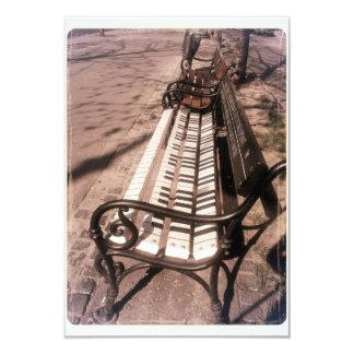Piano bench card