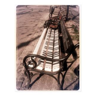 Piano bench postcard