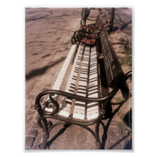 Piano Bench Poster