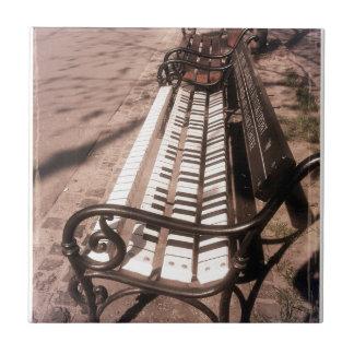 Piano bench small square tile
