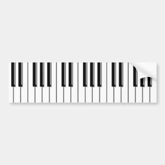 Piano Black and White Bumper Sticker