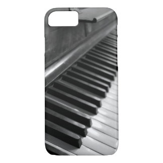 Piano-Black and White iPhone 7 Case