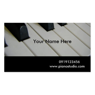 Piano/ Business Card Template