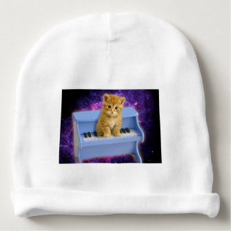 Piano cat baby beanie