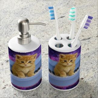 Piano cat bathroom set