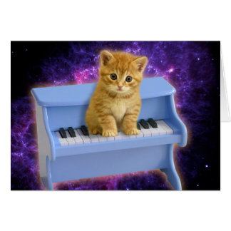 Piano cat card