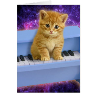Piano cat card