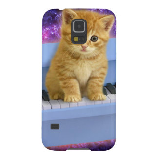 Piano cat case for galaxy s5