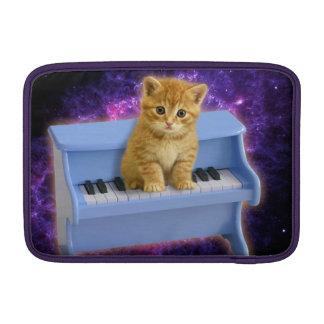 Piano cat MacBook sleeve