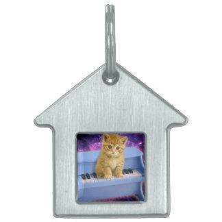 Piano cat pet tag