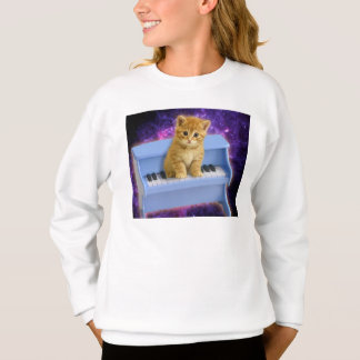 Piano cat sweatshirt