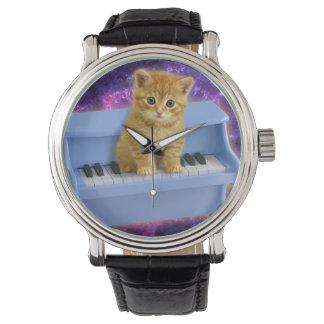 Piano cat watch