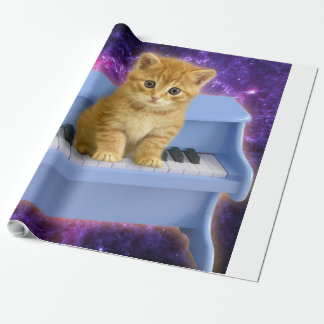 Piano cat wrapping paper