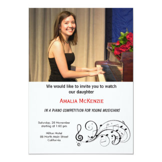 Piano Competition Card