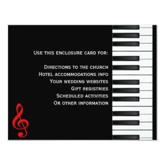 Piano Enclosure Card