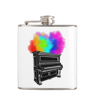 Piano Explosion Of Color Hip Flask