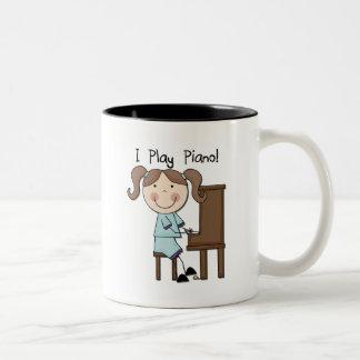 Piano - Female Tshirts and Gifts Two-Tone Mug