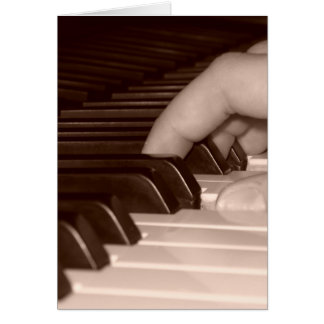 Piano Fingers Card