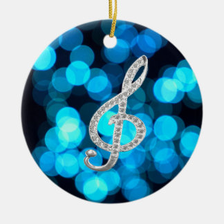 Piano Gclef  symbol Ceramic Ornament