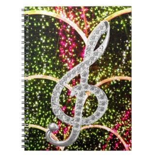 Piano Gclef Symbol Notebook
