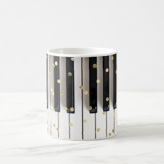 piano gold foil confetti coffee mug