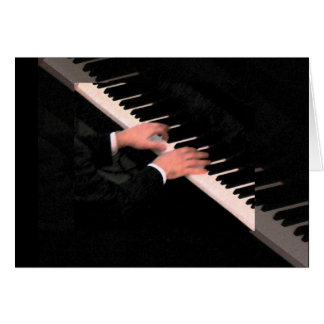Piano Hands Note Card