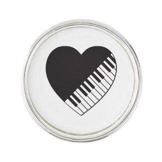 Piano Heart Lapel Pin