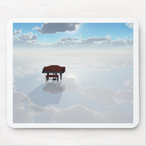 Piano in dramatic white landscape mousepad