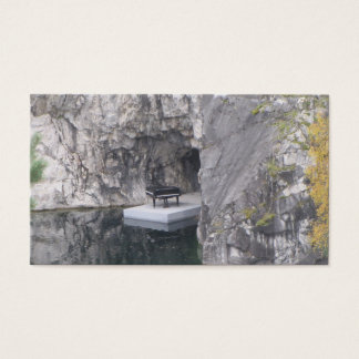 Piano in marble canyon (Ruskeala mining park) Business Card