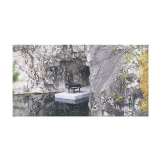 Piano in marble canyon (Ruskeala mining park) Canvas Print
