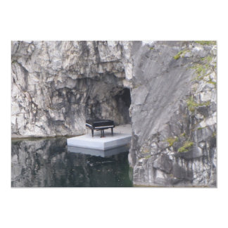 Piano in marble canyon (Ruskeala mining park) Card