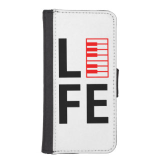 Piano is life. iPhone SE/5/5s wallet case