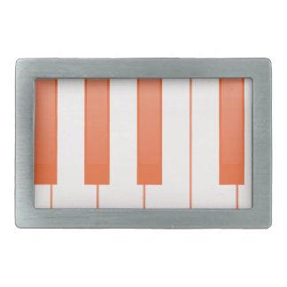 Piano Key Background Belt Buckle