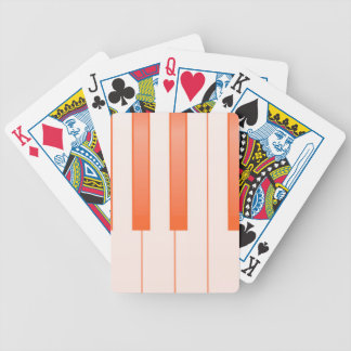 Piano Key Background Bicycle Playing Cards