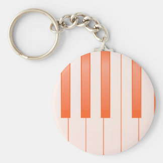 Piano Key Background Key Ring