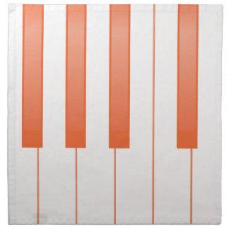 Piano Key Background Napkin