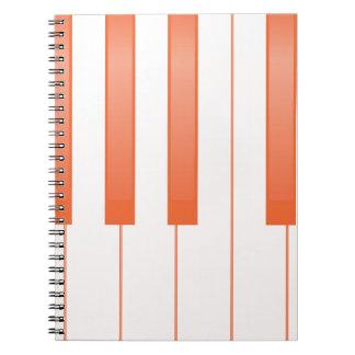 Piano Key Background Notebook
