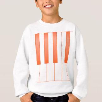 Piano Key Background Sweatshirt