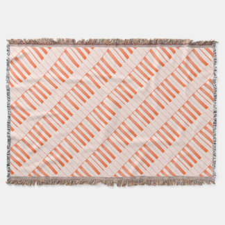 Piano Key Background Throw Blanket