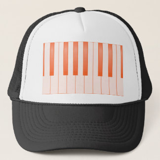 Piano Key Background Trucker Hat