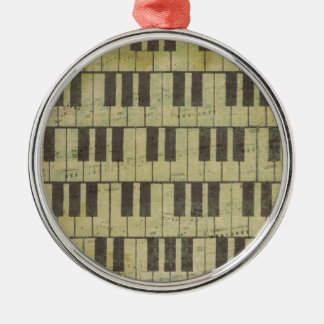 Piano Key Music Note Metal Ornament