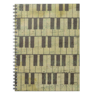 Piano Key Music Note Notebooks